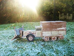 WWll German Opel Blitz Snow Plough Model Made From Recycled Materials - 4 of 6 (Kelvin64) Tags: red rescue snow art water truck germany soldier fire corgi artwork model war action nazi nazis hitler creative engine international lorry 1940s german emergency blitz plough tender diorama matchbox opel 40s brigade dinky germans wwll