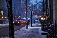 nyc blizzard (matt.marks) Tags: nyc blue winter sunset snow streets 50mm nikon f14 blizzard d90 newyorkcityblizzard