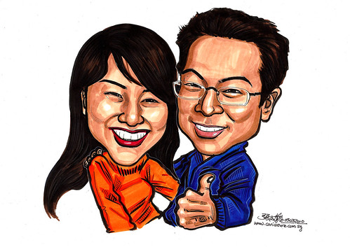 Couple caricatures in colour 030310 A4