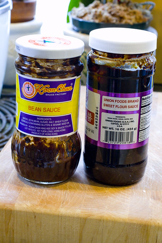 bean sauce and sweet flour sauce