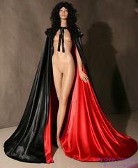 cloak (Sabrina Satin1) Tags: feminine sissy crossdresser ballgown crossdressingfantasy