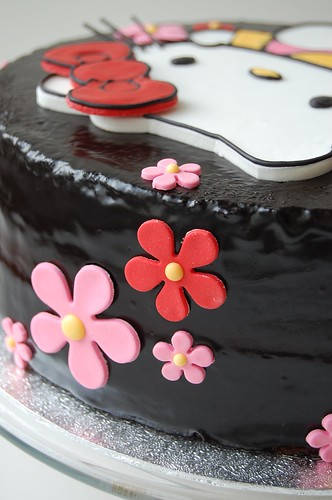 Simone's Hello Kitty Birthday Cake - back
