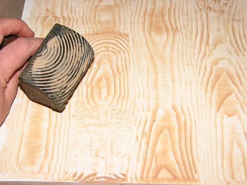 wood grain stencil roller 1