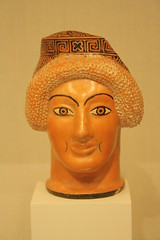 An Attic Red-figure Plastic Oinochoe in the Form of a Woman's Head Attributed to the Toronto Class of Head Vases (Ancient Art) Tags: woman newyork museum greek ancient terracotta vessel attic vase pottery classical metropolitanmuseum redfigure oinochoe torontoclassofheadvases