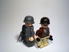 Opposing Commanders (PhiMa') Tags: major lego general wwii ww2 colonel worldwar2 allies wehrmacht brickarms