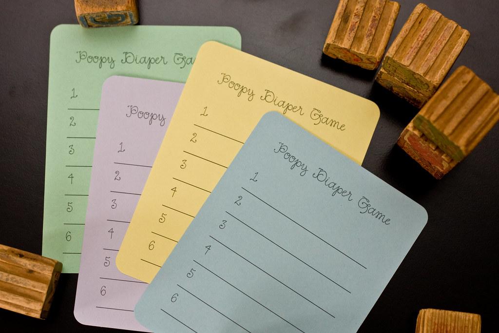 custom-designed baby shower game cards