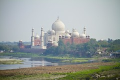 View of Taj Mahal from Agra Fort (banzainetsurfer) Tags: travel india canon asia tour tomb agra mausoleum 7d akbar shahjahan moghuls mughal uttarpradesh भारत friendlyplanet earthasia greatmughals