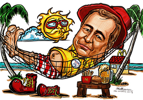 Caricature for Detpak - hammock Mcdonald's