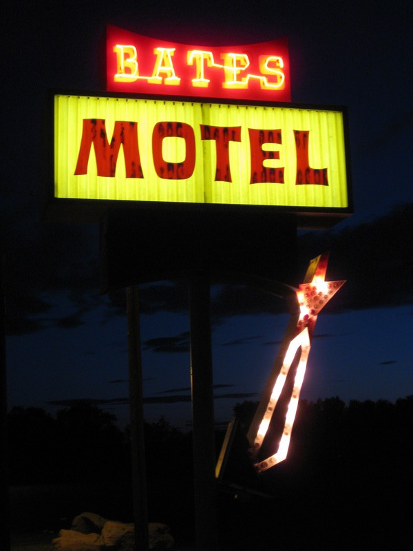 Bates Motel at Night
