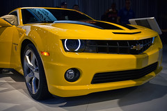 Bumblebee - Front Quarter View (saebaryo) Tags: nyc newyorkcity chevrolet car canon autoshow camaro bumblebee transformers carshow chevroletcamaro newyorkinternationalautoshow 2470mm canon2470mmf28l canoneos5dmarkii 5d2 5dii