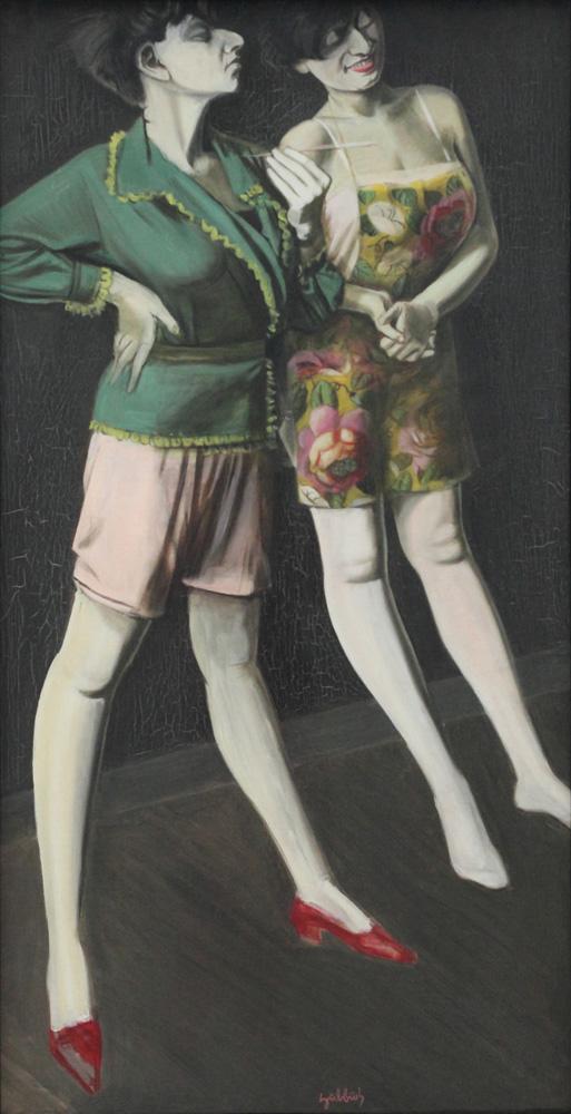 Karl Hubbuch, Zweimal Hilde [Hilde two times], 1929