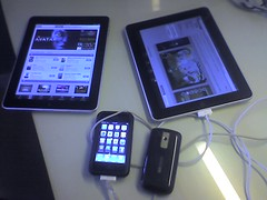 Poor little android.. Dwarfed by Apple Devices...