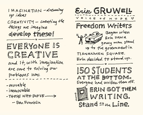 Chick-Fil-A Leadercast Sketchnotes 15-16 - Sir Ken Robinson / Erin Gruwell