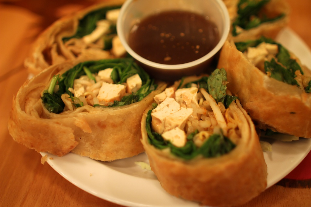 spicy fried spring rolls