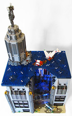 Rapture Full Top View (Imagine) Tags: tower architecture airplane toys lego billboard artdeco rapture littlesister bigdaddy moc watercity bioshock lifelites imaginerigney brickworld2011