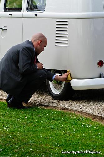 Polishing the van, again