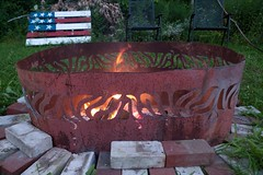 P1110647 (150hp) Tags: amanda dan plasma cutting hands art studio fish creek fuel oil tank upcycling fire pit ring handmade goldfish panasonic lx3