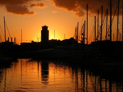 Barcelona Marina sunset