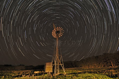Star Trails 8 (Jim | jld3 photography) Tags: ranch longexposure sky motion windmill composite night stars star movement nikon texas image trails noflash rotation stacked startrails boerne northstar d300 aermotor herff