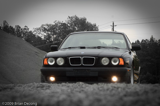 black car bmw 540 540i