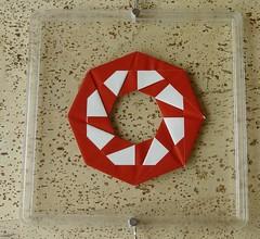 Ring 26 von Tomoko Fuse - Vorderseite (Tagfalter) Tags: origami ring tomokofuse