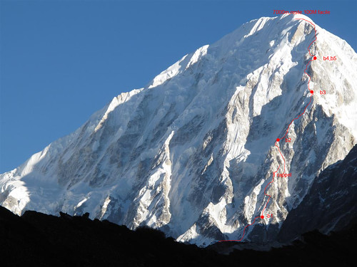 New route in Nemjung south face