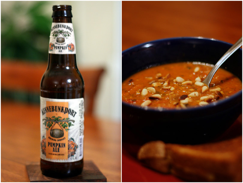 Pumpkin Beer & Tomato Pine Nut Soup