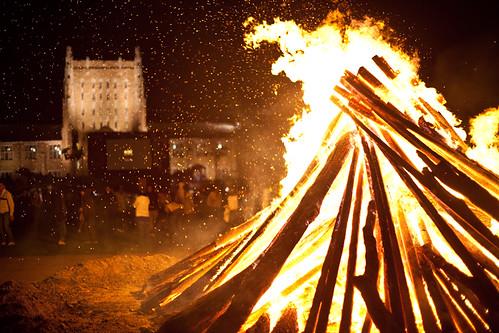 University of Tulsa Homecoming bonfire 2009