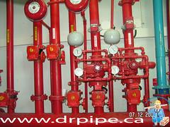 Fire-sprinkler-header-with-alarm-valves1 (DrPipe Toronto) Tags: toronto fire maple diesel plumbing systems drain sprinkler aurora etobicoke scarborough markham woodbridge unionville pums thorhhill drpipe