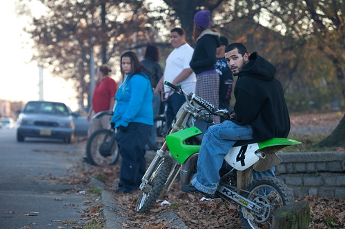 Watching the Camden Motorcycle Street Races