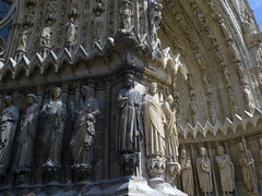 Notre-Dame de Reims # 6 (schreibtnix on 'n off) Tags: france travelling architecture reisen frankreich cathedral champagne gothic kathedrale architektur reims worldheritage gotik weltkulturerbe notredamedereims olympuse3