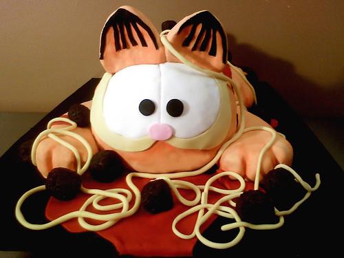 Garfield spaghetti mess