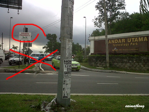 Road closure in Bandar Utama - Jalan Tanjung
