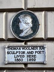 Photo of Thomas Woolner white plaque