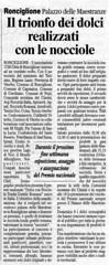 Articoli sul Concorso Nazionale sulla Nocciola DOP Romana