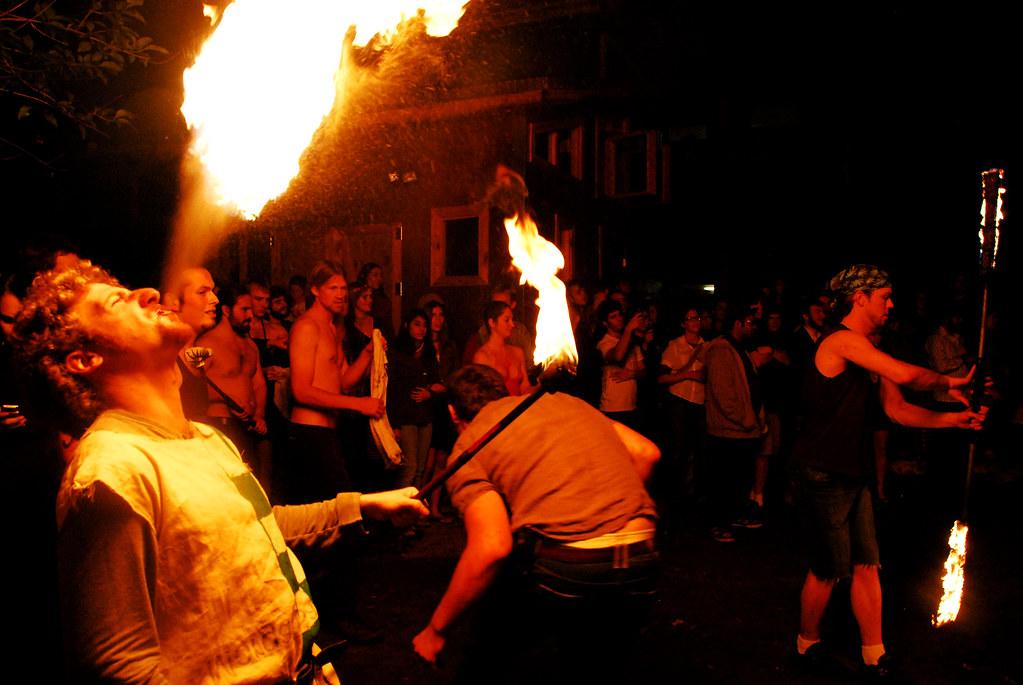 21st Street Co-op Fire Show