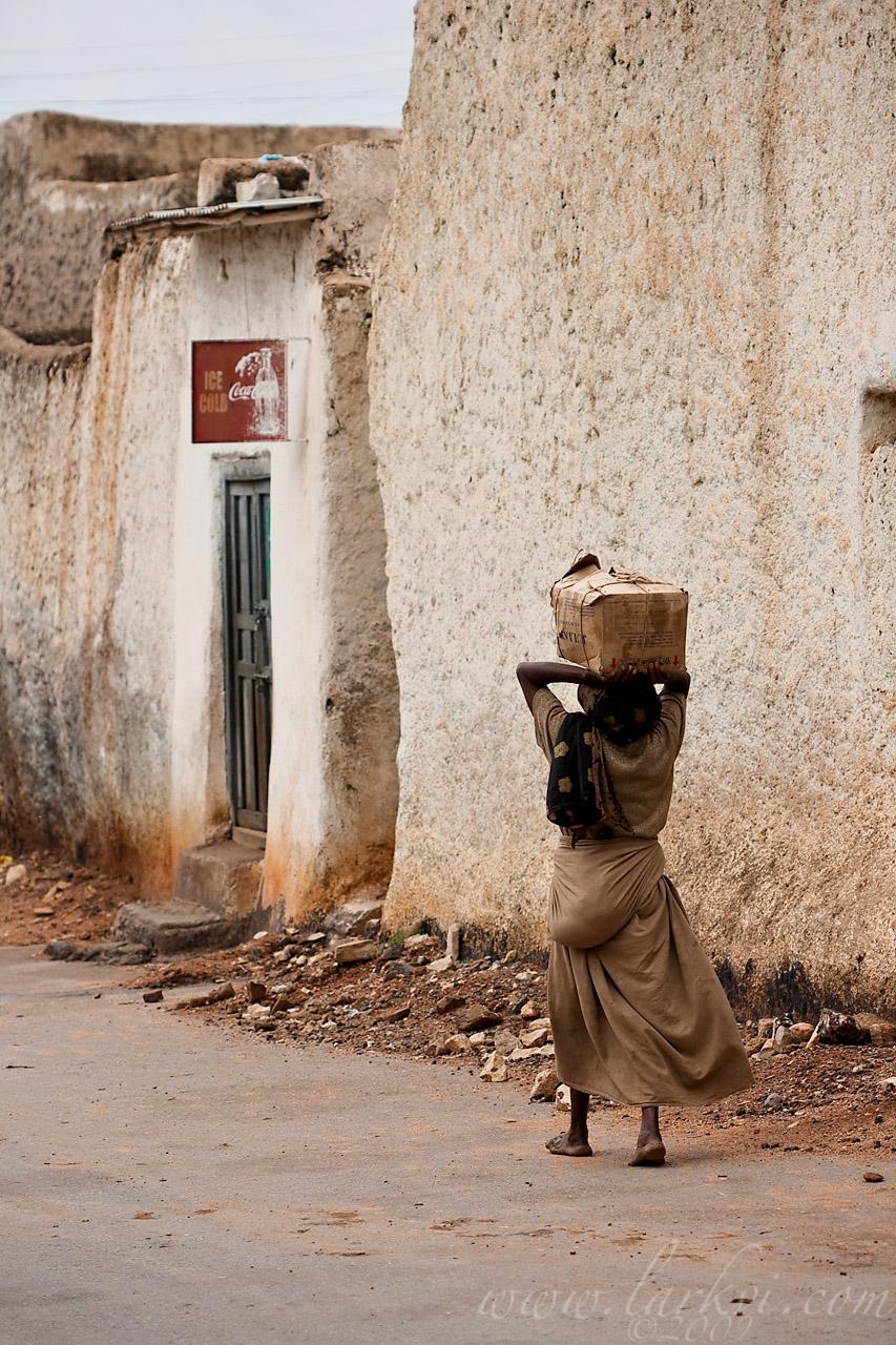 Woman in Street #3, Harar, Ethiopia, 2009