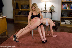 Over the knee spanking!