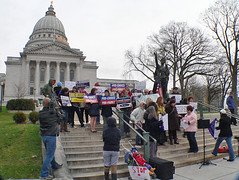 Rally at Capitol steps