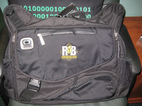 RustyBrick OGIO Messenger Bag (Black Color)