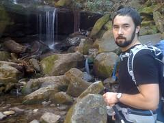 Kirk Near Small Falls on Rainbow Falls Trail
