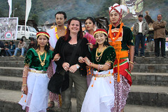 Dancers from Manipur and me (sensaos) Tags: people india festival sisters dance folk traditional north performance culture tribal east seven tribes tradition tribe ethnic northeast 2009 hornbill cultural indigenous kohima nagaland famke noord oost kisima traditioneel hornbillfestival sensaos stammencultuur