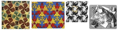 14 Escher muestras de teselaciones