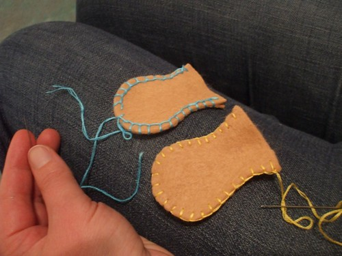 Caitlin invents a new blanket stitch