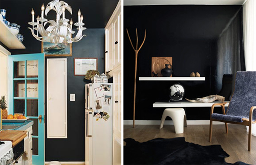 Black Walls black walls (again!). | door sixteen