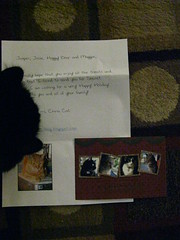 Our Secret Paws note