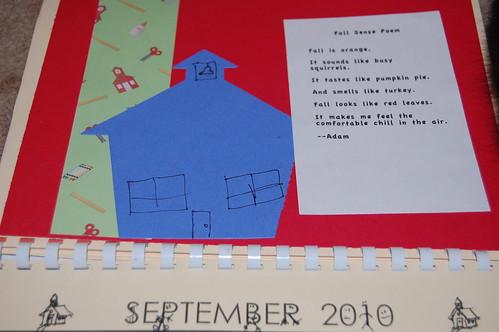 Adam's calendar gift - September