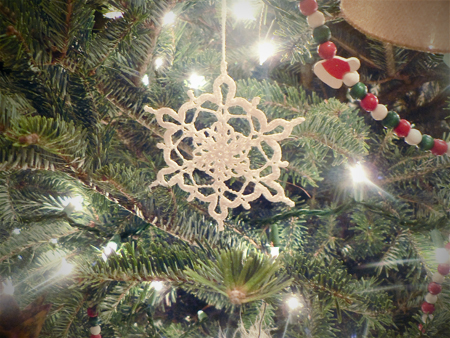 thread crochet snowflake ornament