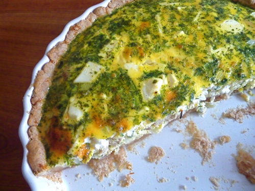 salmon goat cheese quiche