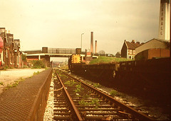 18 - Fishponds Station with diesel loco, last days 1960s (emmdee) Tags: bristol slide 1960s oldslides fishponds fishpondsstation